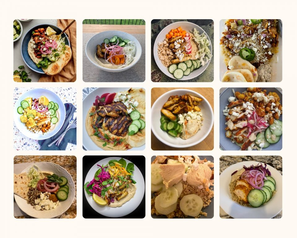 April Recipe Challenge Entries Collage